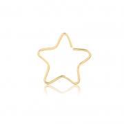 Piercing de Ouro Feminino Estrela Hélix em Ouro 18k