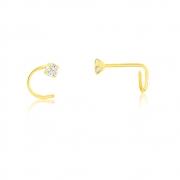 Piercing de Ouro Feminino Zircônia 2,5 mm Piercing Nostril