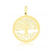 Pingente de Ouro Feminino Árvore da Vida Ouro 18k