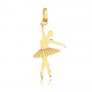 Pingente de Ouro Feminino Bailarina em Ouro 18k Ballet Balé