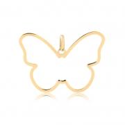 Pingente de Ouro Feminino Borboleta Minimalista em Ouro 18k
