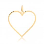 Pingente de Ouro Feminino Coração Minimalista em Ouro 18k