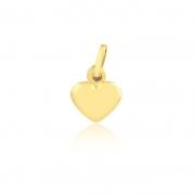 Pingente de Ouro Feminino Coração Ouro 18k