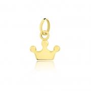 Pingente de Ouro Feminino Coroa em Ouro 18k