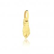 Pingente de Ouro Feminino Figa Amuleto Sorte Ouro 18k