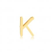 Pingente de Ouro Feminino Letra K Presente Ouro 18k