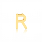 Pingente de Ouro Feminino Letra R Presente Ouro 18k