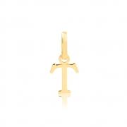 Pingente de Ouro Feminino Letra T Presente em Ouro 18k