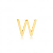 Pingente de Ouro Feminino Letra W Presente Ouro 18k