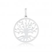 Pingente de Prata Feminino Árvore da Vida Prata 925