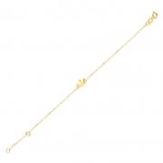 Pulseira de Ouro Infantil Coroa Charm em Ouro 18k