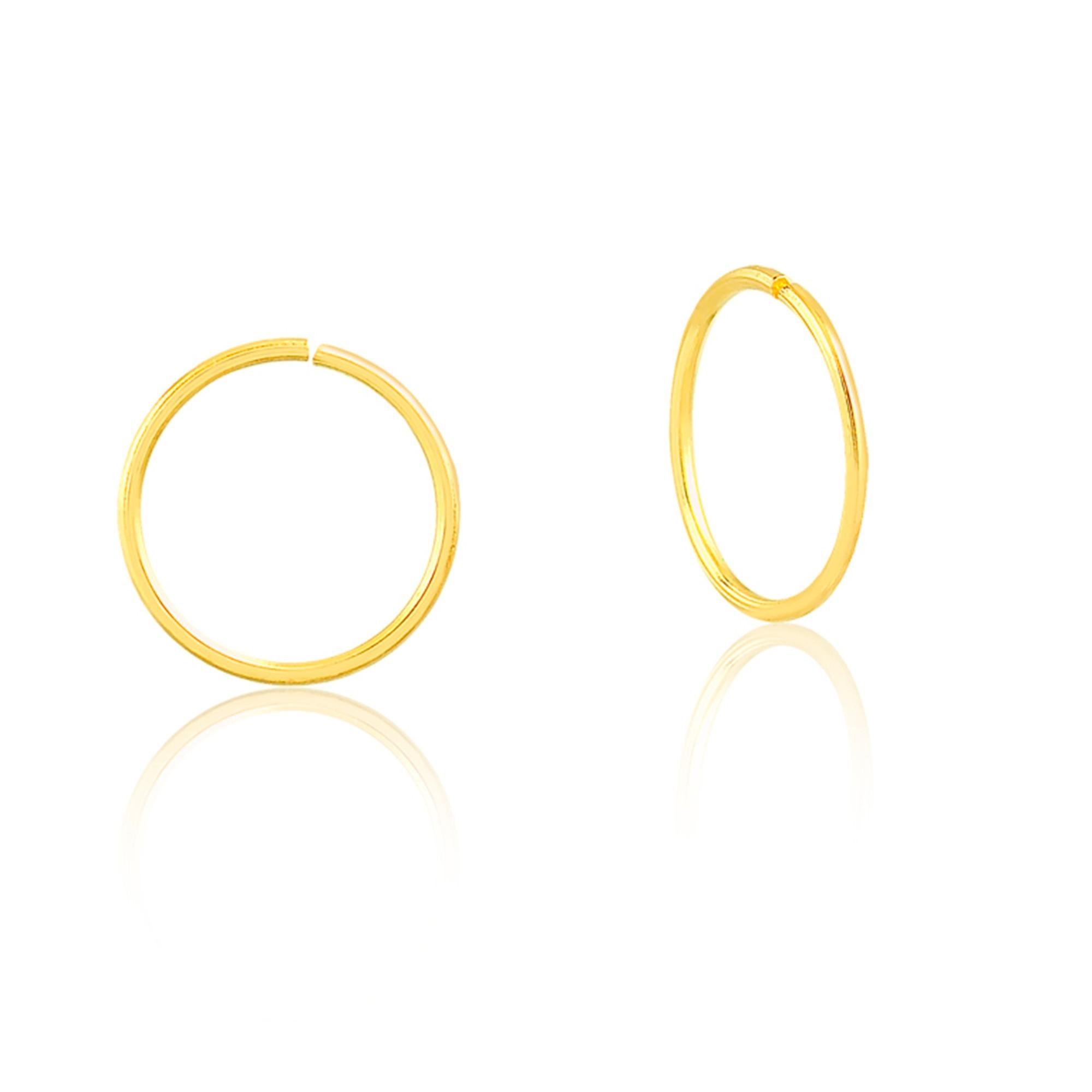 Piercing de Ouro Feminino Argola Básica 7,5 mm Ouro 18k