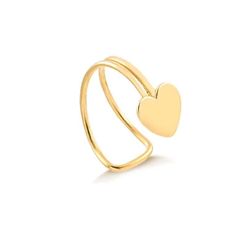 Piercing de Ouro Feminino Coração Hélix Ouro 18k