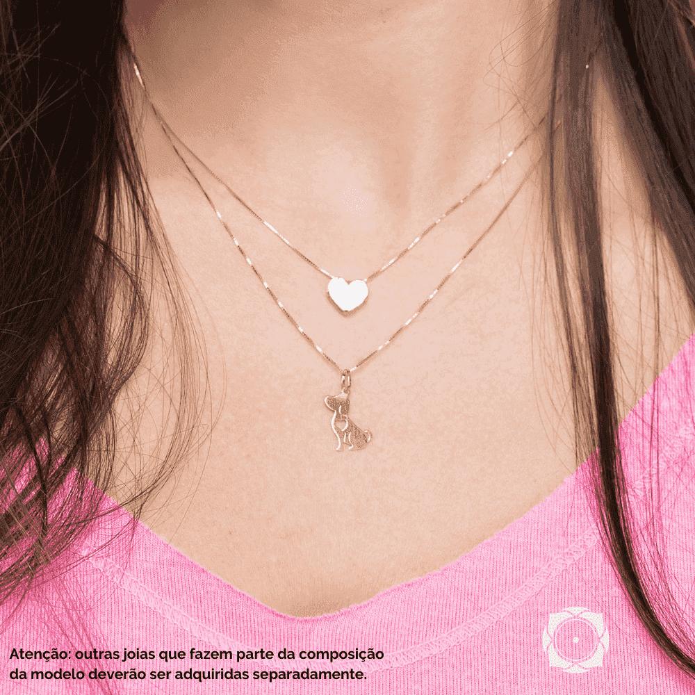 Pingente de Ouro Feminino Coração Caixa Ouro 18k
