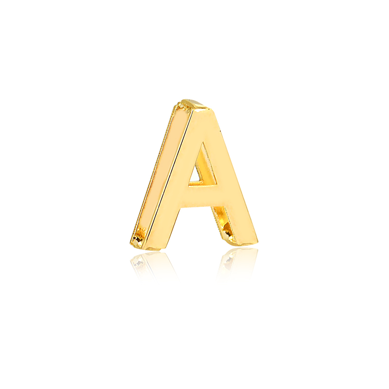 Pingente de Ouro Feminino Letra A Presente Ouro 18k