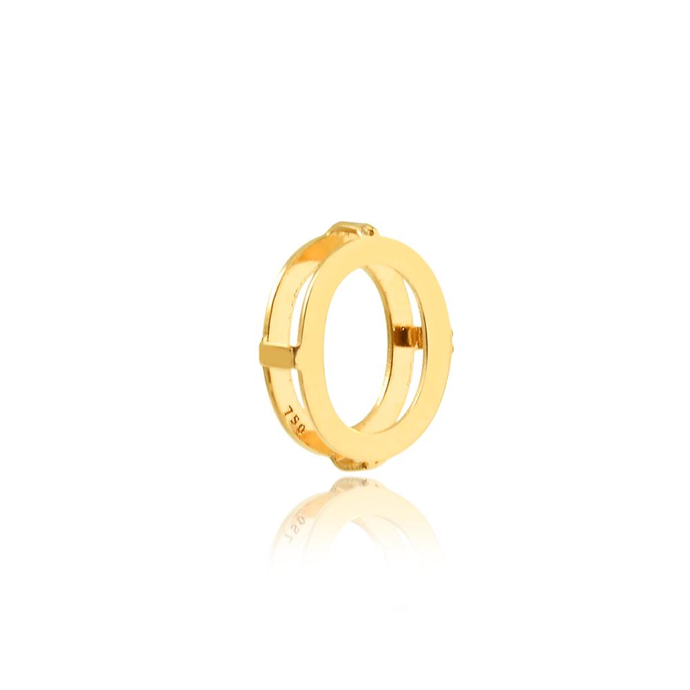 Pingente de Ouro Feminino Letra O Presente Ouro 18k