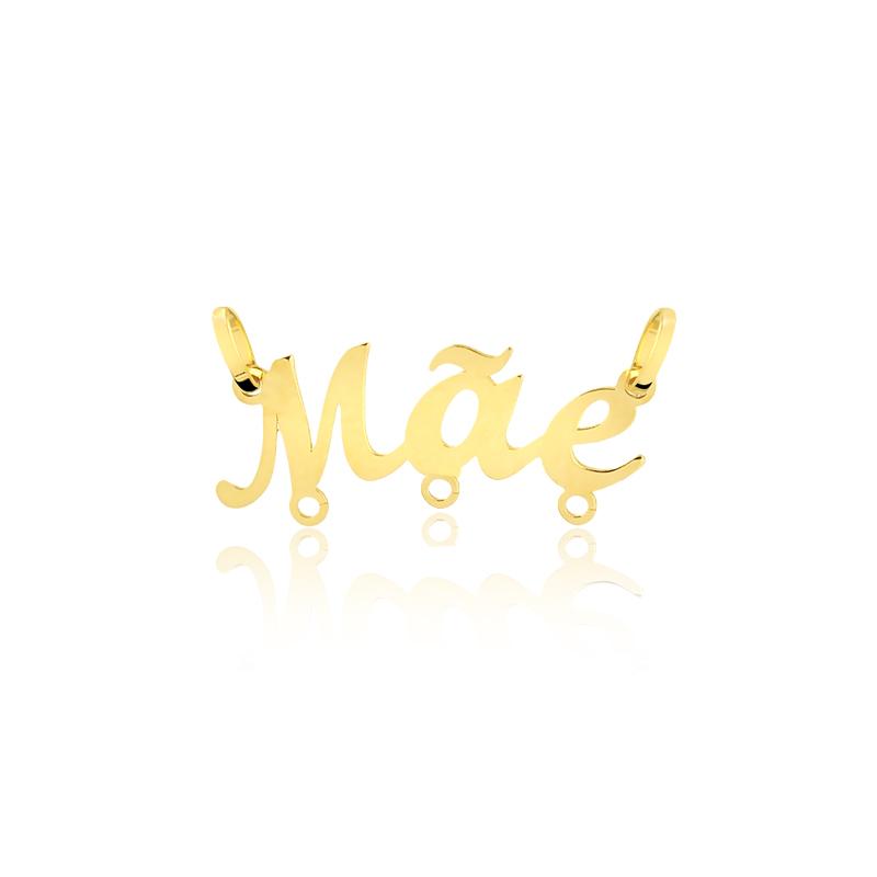 Pingente de Ouro Feminino Mãe Pingente Canga 3 Ouro 18k
