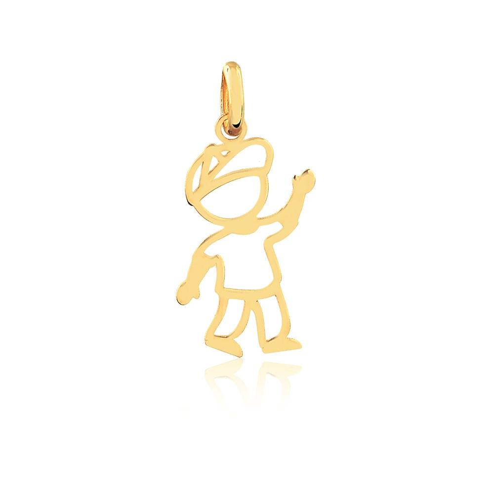 Pingente de Ouro Feminino Menino Criança Ouro 18k