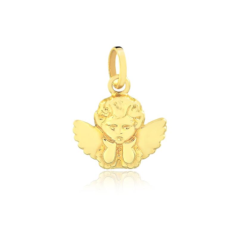 Pingente de Ouro Infantil Anjo Anjinho em Ouro 18k