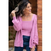 TOP TRICOT ROSA LOVE