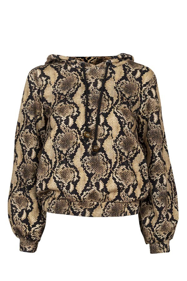 JAQUETA CAPUZ COTTON ANIMAL PRINT