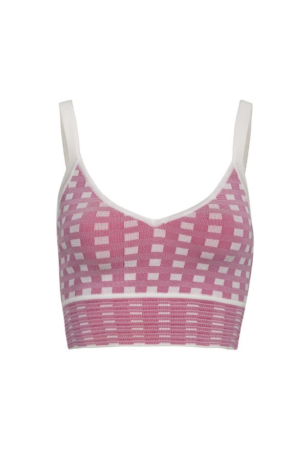 TOP TRICOT VICHY