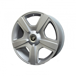 "Roda Volcano  Fuji Bentley aro 20"" furação 5x100 / 5x112 prata tala 7,5"