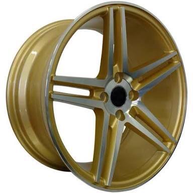 Jogo de Roda Envy 5229 Concave Aro 17 4×100 Gold Diamond