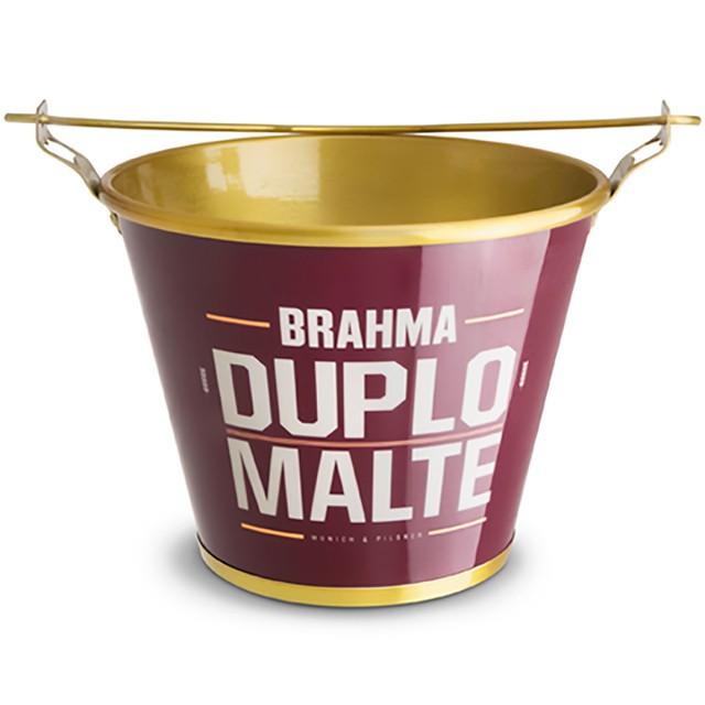 Balde de Gelo Alumínio Brahma Duplo Malte