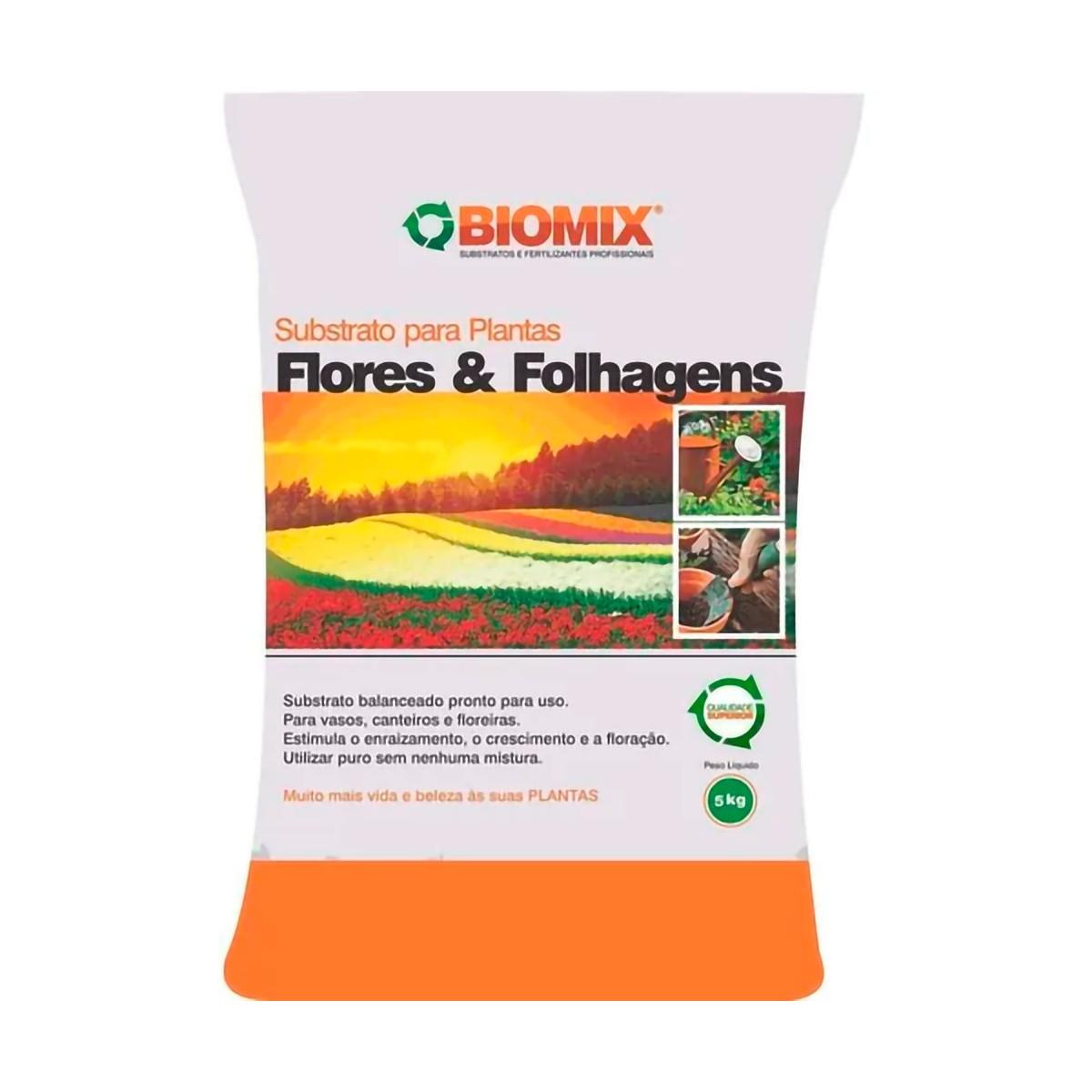 Substrato Flores e Folhagens Biomax 5kg