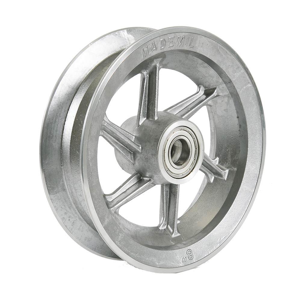 Aro de alumínio 8 polegadas com rolamento 6205z 6 raios Mademil