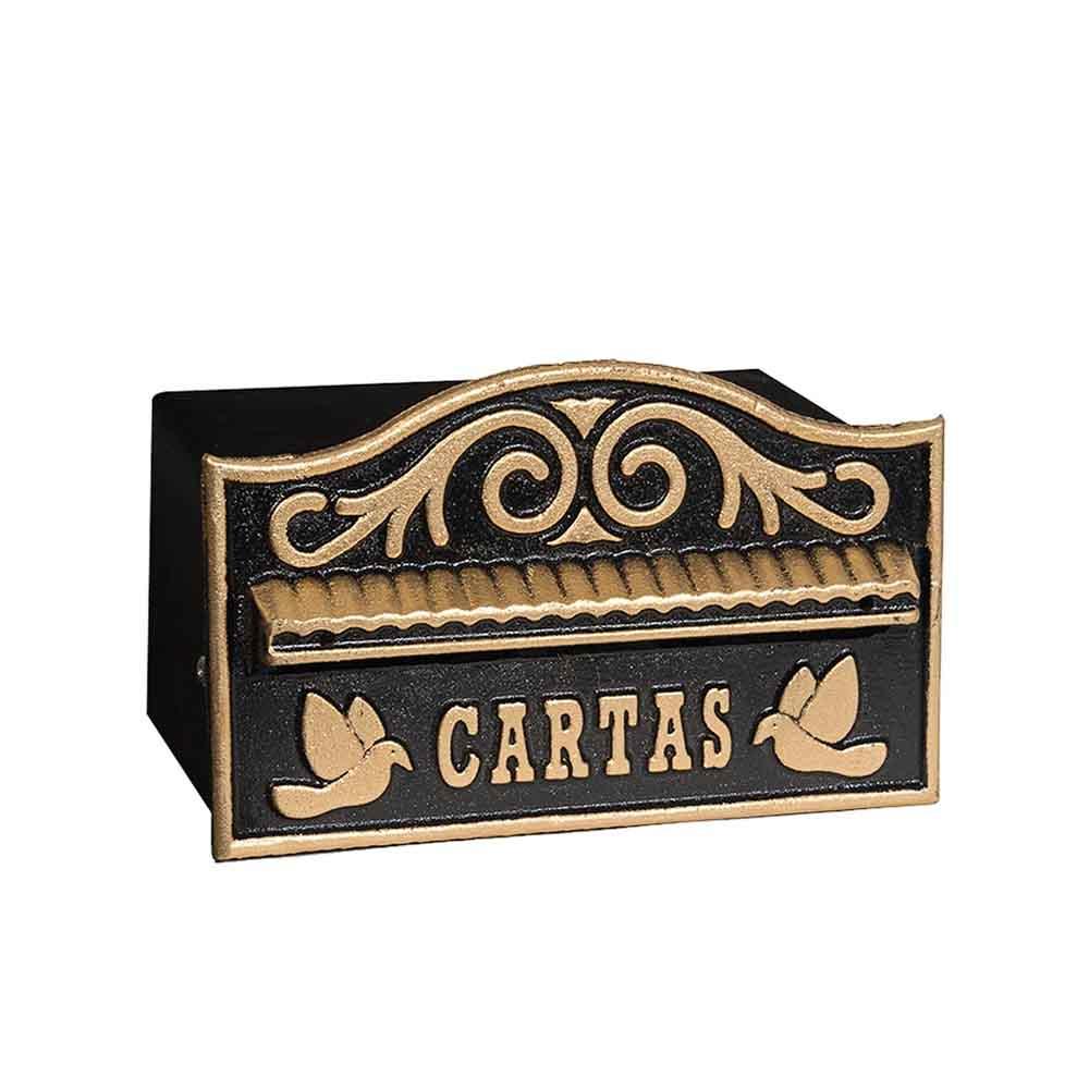 caixa de correio cartas muro aluminio usinna - Dourado