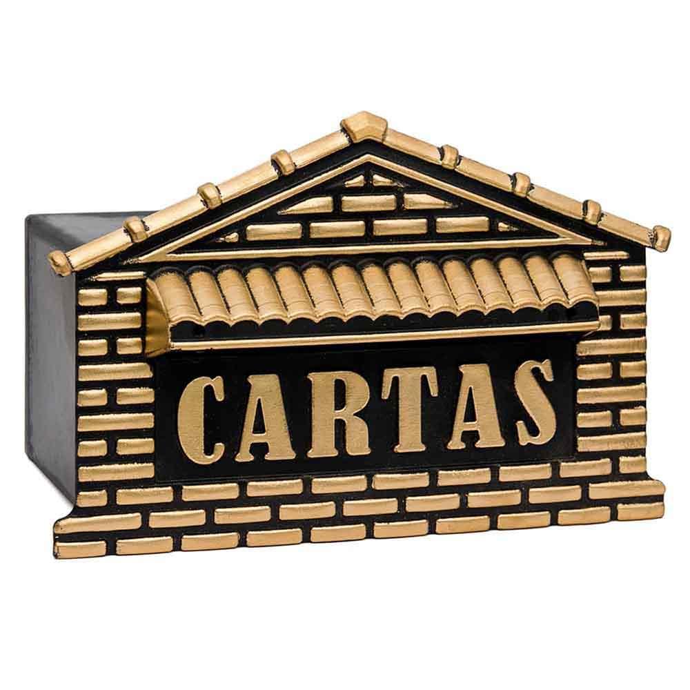 Caixa de correio grade/muro plastico para cartas usinna  - Dourado