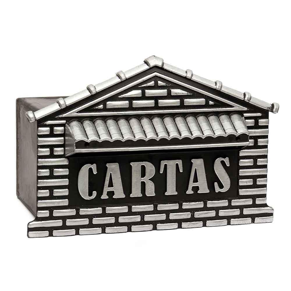 Caixa de correio grade/muro plastico para cartas usinna  - Prata