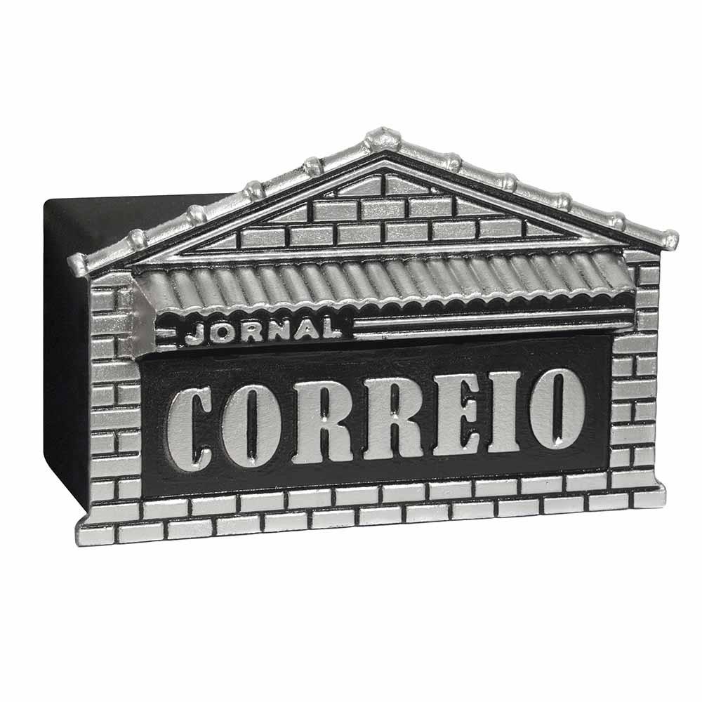 Caixa de correio jornal e revistas para muro em aluminio usinna-Prata