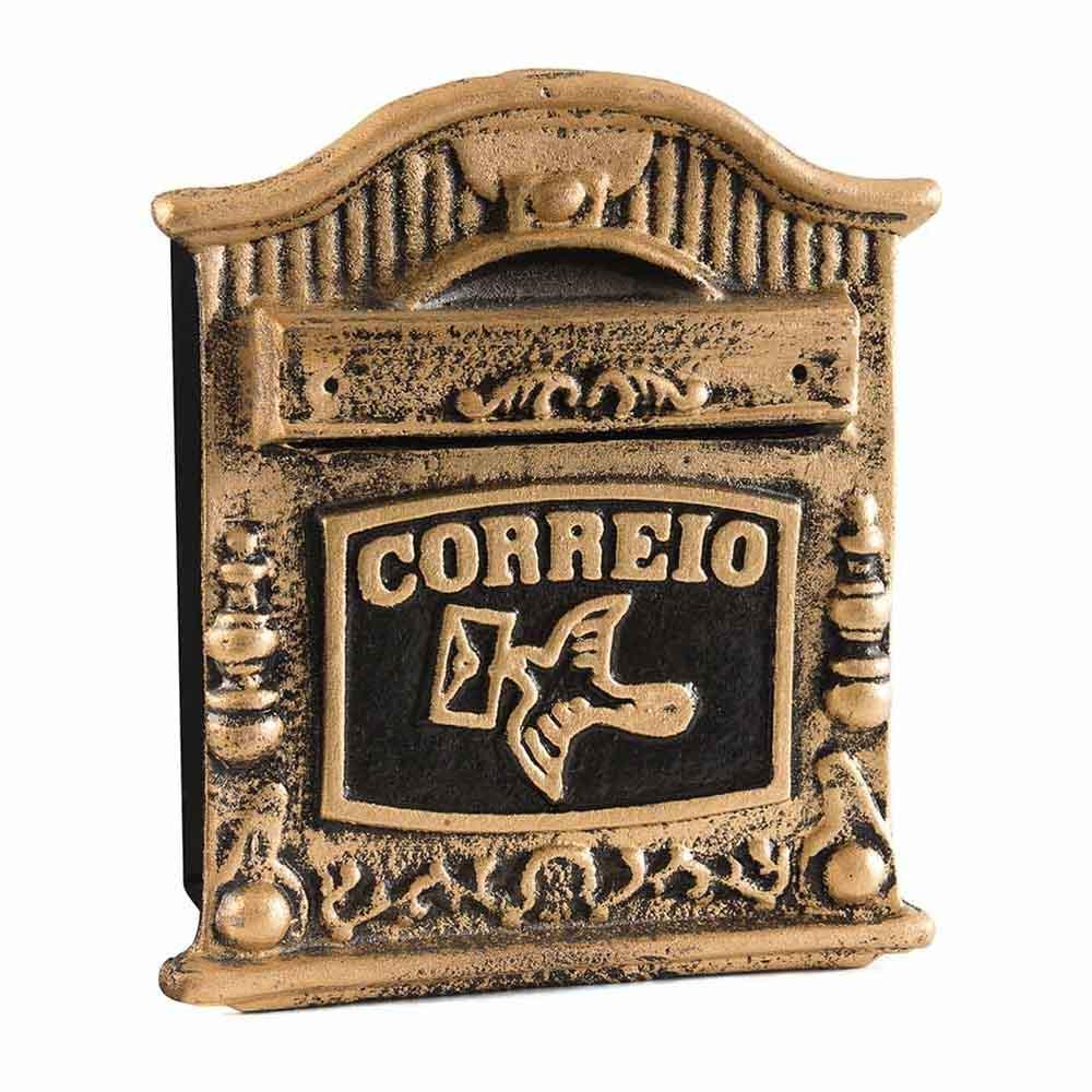 Caixa de correio muro cartas colonial usinna-Dourado