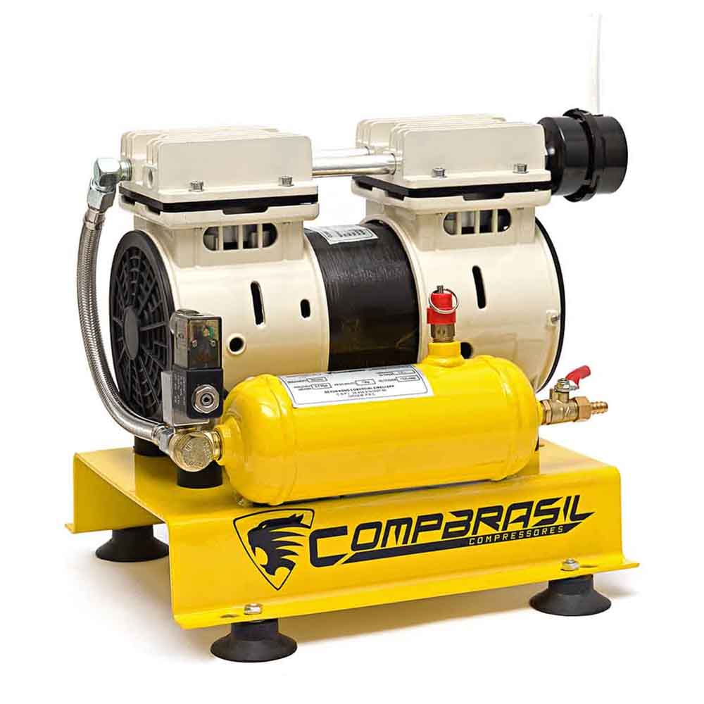 Compressor de ar 1,5 litros 1/2 hp isento oleo 550-1,50 compbrasil-127v