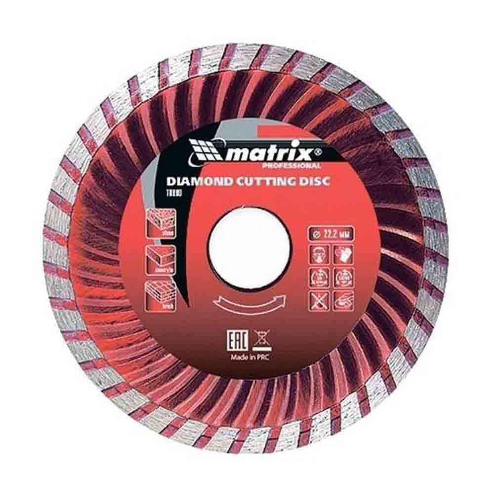 Disco de corte diamantado turbo de 115 x 22,2 mm Mtx