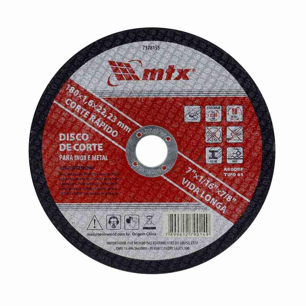 Disco de corte fino 7 polegadas  Mtx