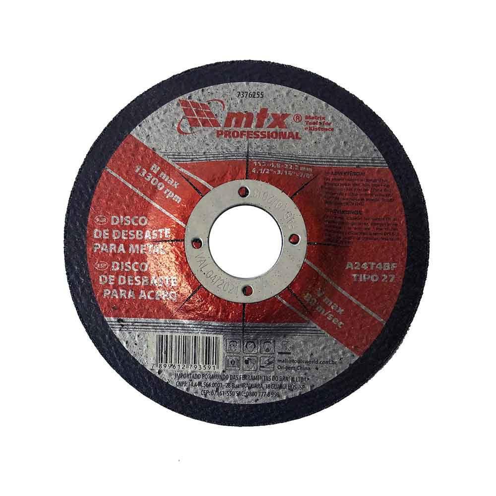 Disco de desbaste metal 7 polegadas esmerilhadeira Mtx
