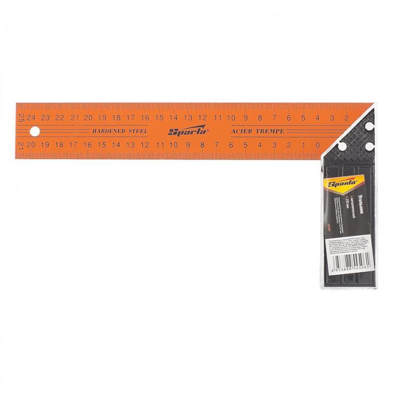 Esquadro metálico profissional para carpinteiro 10'' Sparta