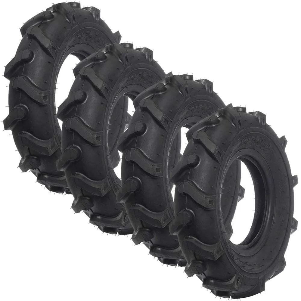 Jogo pneu tratorito motocultivador 4.00-8 quatro peças rx