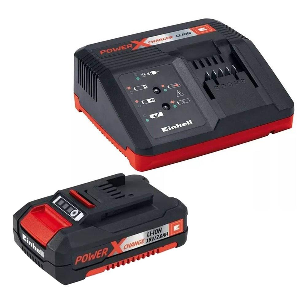 Kit bateria 2.0 ah e carregador bivolt PXC einhell