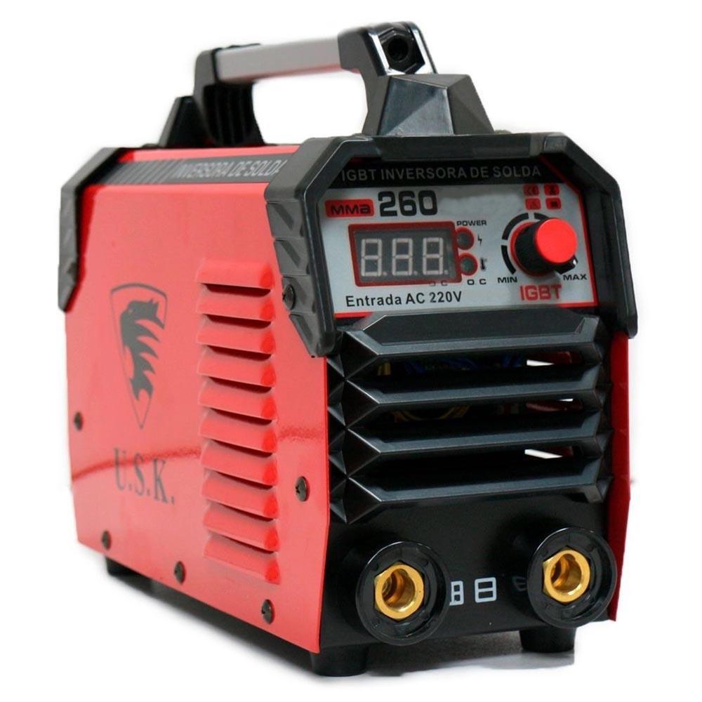 Maquina inversora  de solda mig/mma 260 amperes Usk
