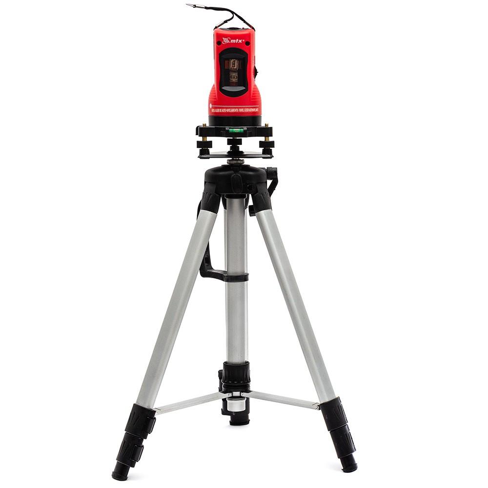 Nível a laser com tripé master com nivelamento automático na horizontal e vertical mtx
