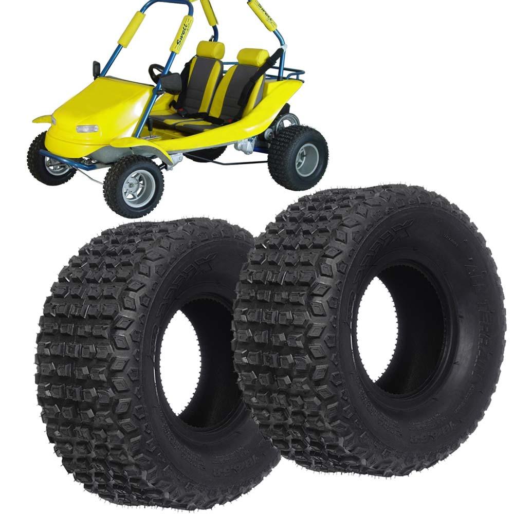Pneu quadriciclo 18X8.5-8 traseiro mini buggy 2 pcs rx
