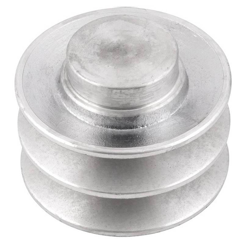 Polia de alumínio industrial canal B2-80 mm mademil