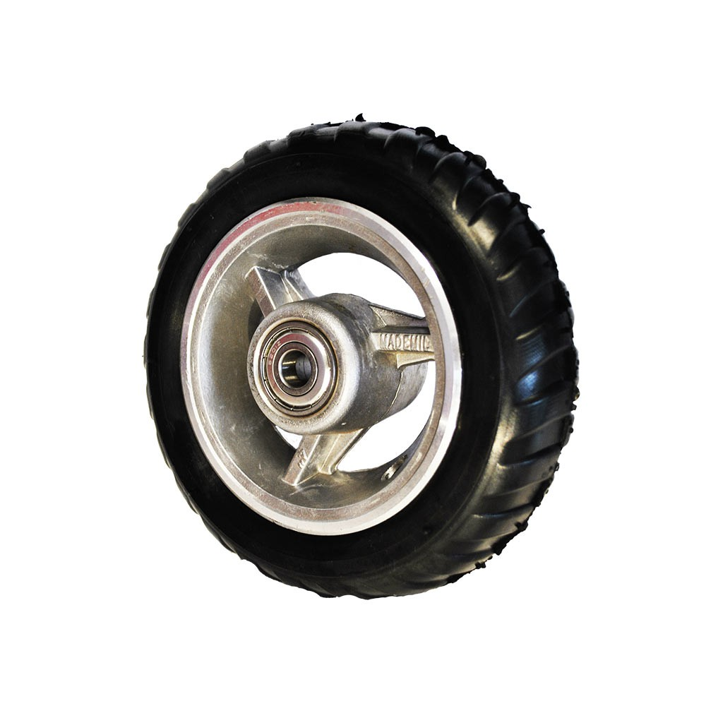 Roda aro 4 com pneu semi-maciço mademil