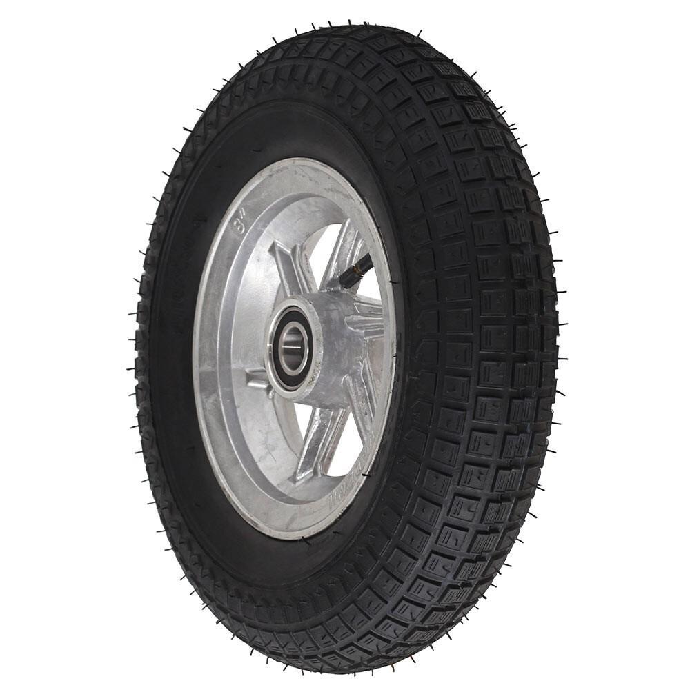 Roda aro 8 aluminio pneu 3.50-8 4 lonas usinna