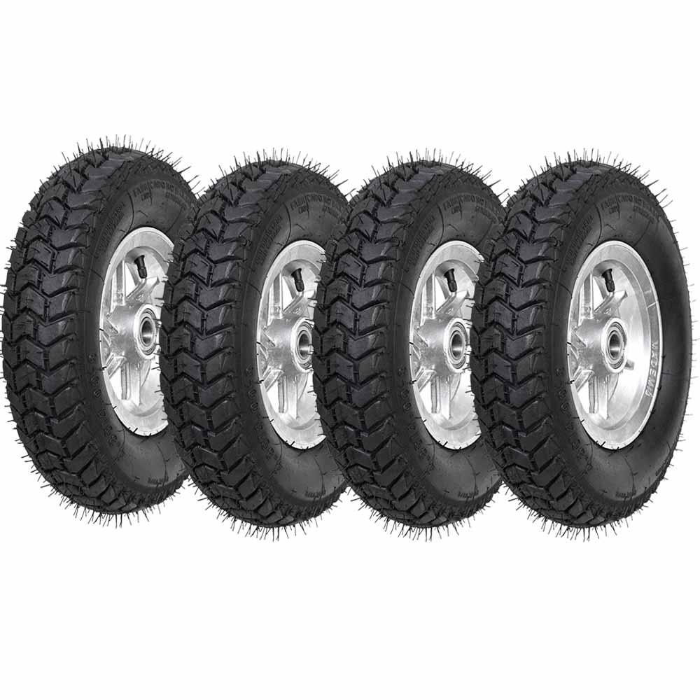 Roda aro 8 de aluminio pneu 4.80/4.00-8 6 lonas rxx carretinha 4 peças usinna